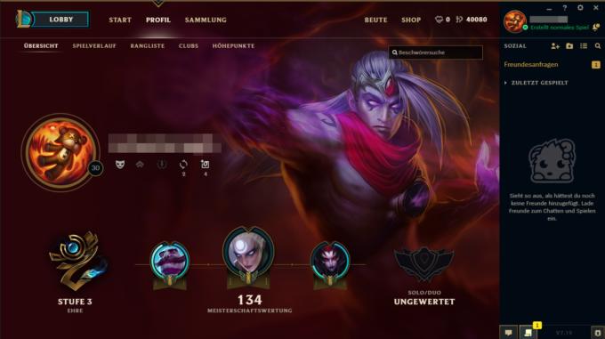 LoL Account 40K - Profil