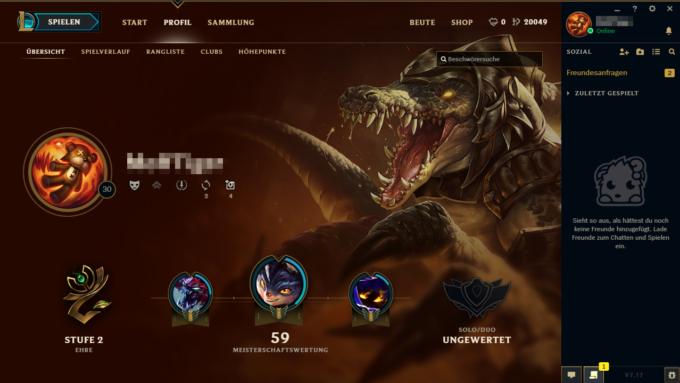 Smurf LoL Account - Profil 20K